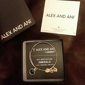Alex and Ani Gold May Birthstone Bangle